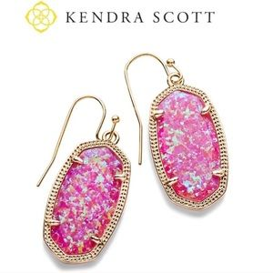 Kendra Scott Dani Drop Earrings Pink Kyocera Opal
